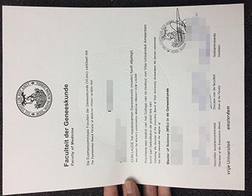 How to buy a fake Vrije Universiteit Amsterdam diploma, 阿姆斯特丹自由大学毕业证办理