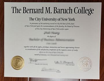 定制巴鲁克学院毕业证成绩单, Fake Bernard M. Baruch College diploma,